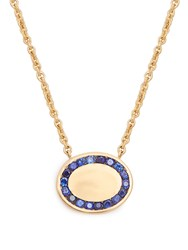 Jessica Biales Candy Sapphire And Yellow Gold Necklace Blue