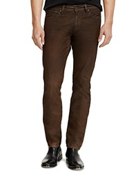 Ralph Lauren Black Label Jeans Slim Fit In Battalion Brown Canvas