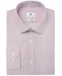 Ryan Seacrest Distinction Men's Ultimate Slim Fit Non Iron Performance Stretch Dress Shirt Created For Macy's Burgundy Pinstripe