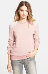 Element 'Allie' Crewneck Fleece Top Juniors Dusty Pink