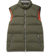 Orlebar Brown Aidey Quilted Stretch Nylon Down Gilet Green