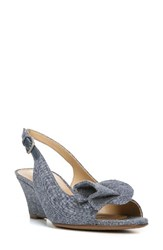 Naturalizer Women's Tinna Slingback Sandal Denim Fabric