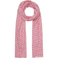 Seasalt Exclusive Poppy Stars Cotton Scarf Pink