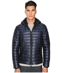 Duvetica Troilo Quilted Down Hooded Jacket Blue Navy