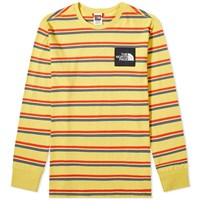 The North Face Stripe Long Sleeve Tee Yellow