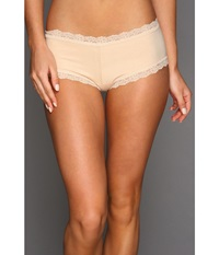 Hanky Panky Organic Cotton Boyshort W Lace Chai Women's Underwear Brown