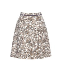 Etro Silk Blend Jacquard Skirt Multicoloured