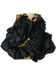 Dsquared2 Ruffle Trimmed Mini Skirt Brown