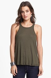 Women's Free People 'Long Beach' Tank Dark Olive
