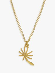 Alex Monroe Dandelion Pendant Necklace Gold