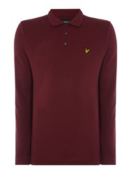 Lyle And Scott Men's Long Sleeve Classic Polo Claret
