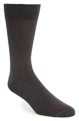 Men's Etiquette Clothiers 'Ball Point' Polka Dot Socks Grey