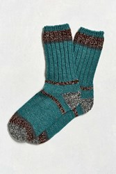 Woolrich Accent Sock Dark Turquoise