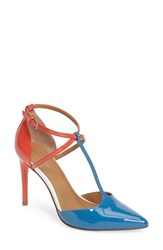 Calvin Klein Women's Savannah Pump Blue Blush Patent Leather
