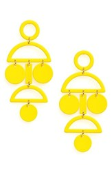 Natasha Geo Statement Earrings Yellow