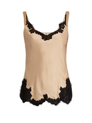 Helmut Lang Lace Trimmed Satin Cami Top Nude