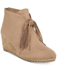 Dr. Scholl's Classify Wedge Booties Toasted Coconut Microfiber