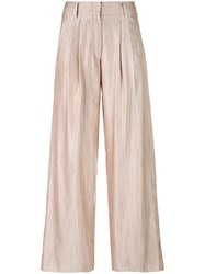 Forte Forte Classic Loose Fit Trousers Women Cotton Linen Flax Viscose 1 Red