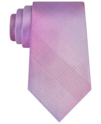 Kenneth Cole Reaction Men's Jumbo Shaded Plaid Tie Pink