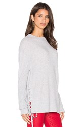 Rta Arianne Lace Side Sweatshirt Gray