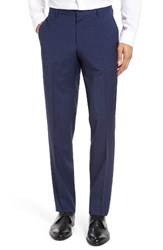 Boss Men's Benso Flat Front Check Wool Trousers