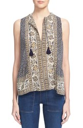 Women's Sea 'Sabine' Scarf Print Sleeveless Silk Top