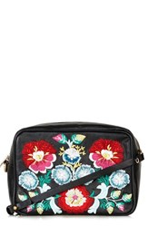 Topshop Floral Embroidery Crossbody Bag