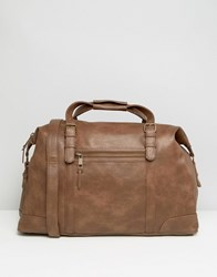 New Look Holdall Bag In Brown Light Brown
