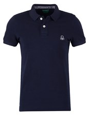 United Colors Of Benetton Muscle Fit Polo Shirt Navy Dark Blue