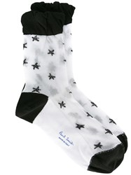 Paul Smith Black Label Star Pattern Socks White
