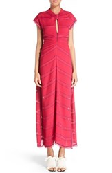 Proenza Schouler Women's Knotted Pinstripe Crepe Dress