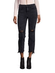 Alexander Wang Denim X Grind Distressed Jeans Grey Aged