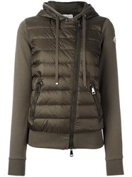 Moncler Padded Front Jersey Hoodie Green