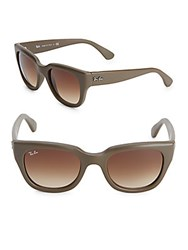Ray Ban Logo Accented Sunglasses Brown