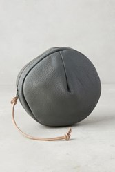 Anthropologie Pleated Circle Pouch Grey