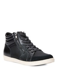 Calvin Klein Leather High Top Sneakers Black