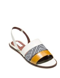 Cole Haan Anisa Leather Slide Sandals Ivory
