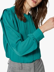 Selected Femme Chanelle Long Sleeve Blouse Teal Green