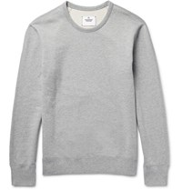 Reigning Champ Loopback Cotton Jersey Sweatshirt Light Gray