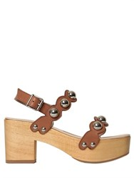 Ras 60Mm Studded Scalloped Leather Sandals