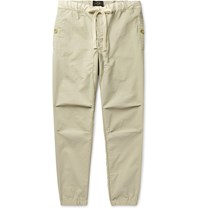 Beams Plus Slim Fit Tapered Grosgrain Trimmed Ripstop Drawstring Trousers Neutrals