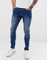 Voi Jeans Skinny In Mid Washed Blue
