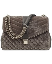 Nine West Arin Velvet Shoulder Bag Grey