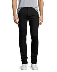 Alexander Mcqueen Clean Denim Skinny Jeans With Skull Hip Button Black