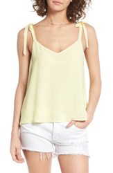 Lush Women's Tie Shoulder Camisole Yellow Can