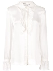 Alexis Ruffle Trim Shirt White