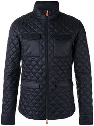 Save The Duck Quilted Jacket Blue