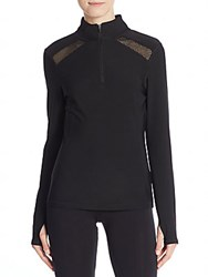 Saks Fifth Avenue Mesh Panel Track Jacket Black