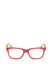Ray Ban Square Frame Junior Acetate Optical Glasses Pink Multi Colour