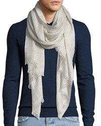 Loro Piana Fringed End Textured Scarf Beige